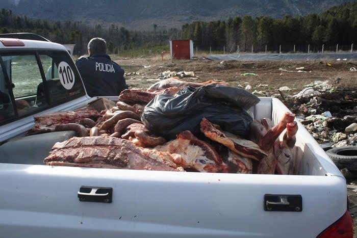 Resultado de imagen para secuestro de carne en el bolson