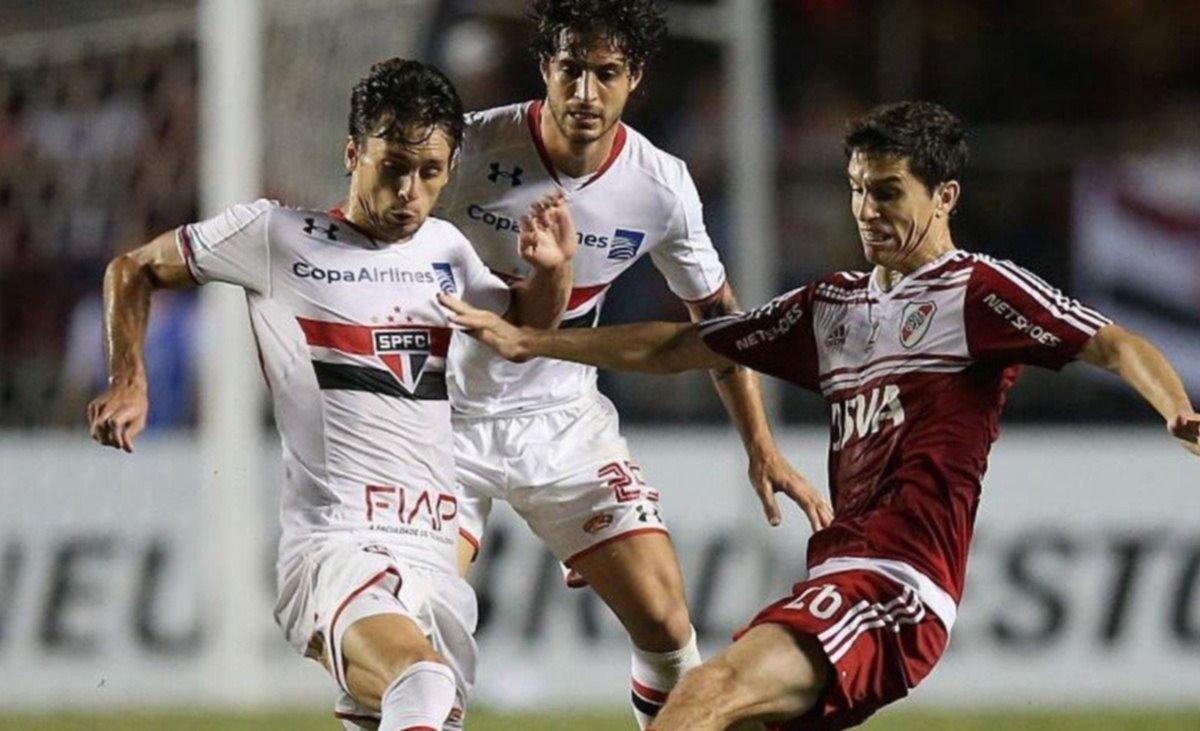 River empató 2-2 con San Pablo en Brasil