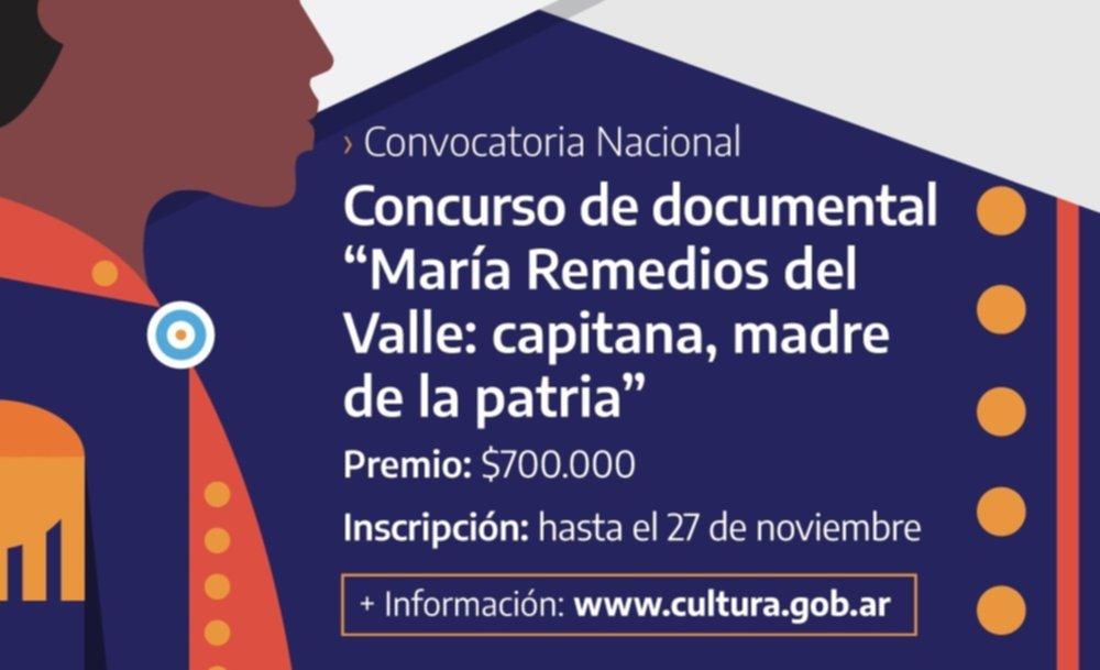 """Concurso Nacional de Documental """"María Remedios del Valle: Capitana, Madre de la Patria"""""""